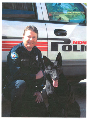 Officer Bill Welch and Raven of Novato P.D.