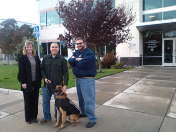 Chris and Karen Tallerico with Richmond PD Officer Mandell and K9 Rasp